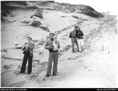 Joy Hester, Sidney Nolan [holding Sweeney Reed], John & Sunday Reed, Point Lonsdale