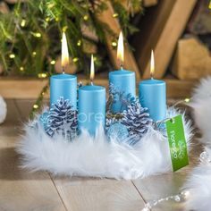 Advent Wreath, Blue Gold, Pillar Candles, Xmas, Wreaths, Blue Nails, White People, Bottles, Silver