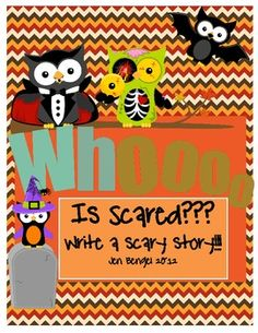 I can NOT wait to start this writing unit with my students next week!  We are going to bring in blankets and flashlights on Halloween Day to make forts, shut off all the lights, and read our scary stories!!