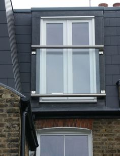 Glass Juliet Balcony Loft Conversion as featured on TV program 'Double Your House for Half the Money' improves space in the house Juliette Balcony, Glass Juliet Balcony, Glass Balcony, Attic Bedroom Small, Bedroom Balcony, Attic Rooms, Attic Playroom, Attic Loft, Attic Spaces
