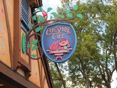 Cheshire Cat Sign. Disney World
