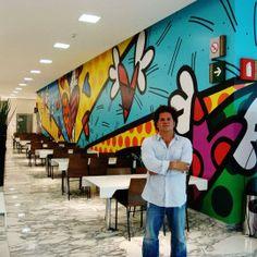 Paris Art Web - Romero Britto - Commissions - Brand New Day - Los Acros Restaurant - Mexico City Graffiti Painting, Graffiti Art, Collaborative Art Projects, School Murals, Modern Pop Art, Art Web, Easy Paintings, Oil Paintings, Paris Art