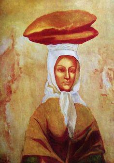 Picasso, Pablo - The Bread wearer - Ecole de Paris - Oil on canvas - Portrait - Philadelphia Museum of Art - Philadelphia, PA, USA