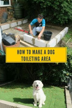 Are you fed up of your dog weeing on the grass and dog wee killing it? Well how about you build a dog toileting area in your garden. We built this for my puppy, so he could learn to toileting on the puppy patch straight away. Now I have no more dog wee ki