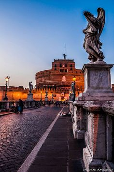 Castel Sant'Angelo, Rome The bridge of Angels by Bernini