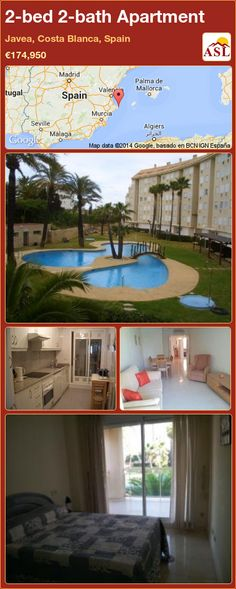 2-bed 2-bath Apartment in Javea, Costa Blanca, Spain ►€174,950 #PropertyForSaleInSpain