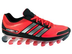 Details zu NEW MENS ADIDAS SPRINGBLADE RUNNING SHOES TECHFIT SPRINGBLADES  INFRARED / SILVER