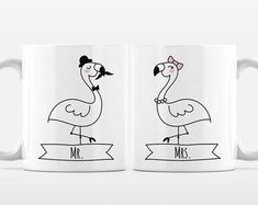 Artículos similares a Set of 2 MR and MRS Mugs Set, Cat Unicorn Couple Mugs, Unique Mr and Mrs Gift, Couples Gift, Wedding Gift, Coffee Mugs, Animal Coffee Mugs en Etsy Couple Mugs, Couple Gifts, Unicorn Cat, Gift Wedding, Mugs Set, Etsy, Animal, Coffee, Couples