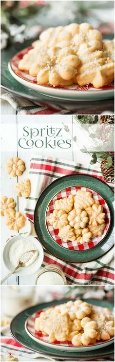 Spritz Cookies: light, crisp, and so buttery! This was the best recipe I've ever tried, they practically melted in my mouth! #food #desserts #cookies #spritzcookies #buttercookies #christmas #holiday #baking via @bakingamoment