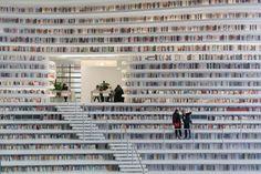 La Libreria a forma di occhio gigante nella città cinese di Tianjin