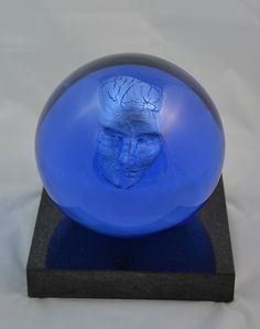 Kosta Boda Limited ED Headman Large Glass Art sculpture Bertil Vallien MINT