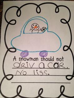 Mrs Jump's class: Sneezy the Snowman unit and Freebie. Class book about things a snowman shouldn't do. 2d Shapes Kindergarten, Kindergarten Language Arts, Winter Fun, Winter Theme, Winter Ideas, Sneezy The Snowman, Kids Fairy Garden, Text To Self Connection, Snow Theme