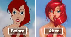 Illustrator Repaints Disney Princesses To Look More Realistic | Bored Panda