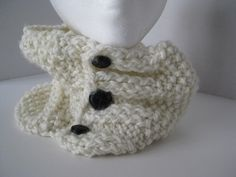 Creamy Dream Knitted Cowl by outsidersjenni on Etsy, $25.00