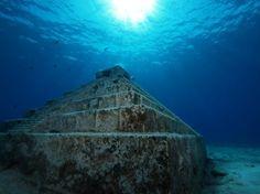 Underwater pyramid, Cozumel, Mexico