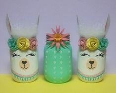 No drama lama! It's lama fun! No problem llama! It's a llama! Bring your party to life with these adorable llama mason jars! They make the perfect centerpeice, add flowers, balloons, decoratio Centerpiece Decorations, Balloon Decorations, Birthday Party Decorations, Birthday Parties, 21st Party, Birthday Games, Birthday Ideas, Mason Jar Crafts, Mason Jars
