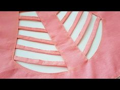 Model blouse Dori neck gala back design cutting and stitching /blouse designs Simple Blouse Designs, Blouse Back Neck Designs, Bridal Blouse Designs, Blouse Neck Designs, Simple Pakistani Dresses, Designer Blouse Patterns, Blouse Models, Dress Cuts, Neck Pattern