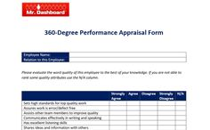 Writing Accomplishments Performance Appraisal – Mr Dashboard #Business