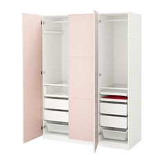 PAX Roupeiro - 150x60x201 cm, dobradiça fecho suave - IKEA