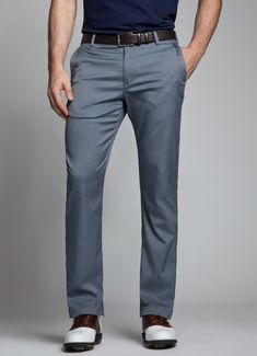 Golf Fashion Stlyle Grey Golf Pants for Men Golf Attire, Golf Outfit, Golf Fashion, Mens Fashion, Fashion Outfits, Men's Outfits, Fasion, Golf Wear, Dressed To The Nines