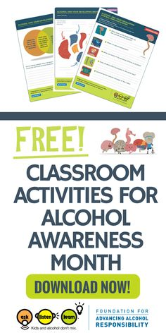 Calling all counselors, middle school teachers and educational professionals. Help your students say yes to a healthy lifestyle and no to underage drinking. This free curriculum includes free printables, interactive activities and lesson plans. Perfect for alcohol awareness month. Click here to learn more and download them now.