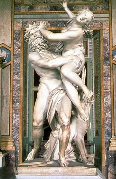 """The Rape of Proserpina""- Pluto and Persephone, Baroque marble by Italian artist Gian Lorenzo Bernini, 1622 Sculpture Du Bernin, Bernini Sculpture, Gian Lorenzo Bernini, Greek And Roman Mythology, Hades And Persephone, Roman Art, Italian Artist, Objet D'art, Gods And Goddesses"