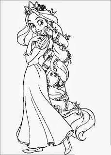 Színezők- kifestők  Aranyhaj színező kifestő (Tangled Rapunzel coloring  pages) Kifestőkönyv cffde819c9
