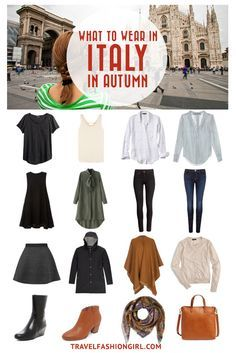 Traveling to Italy in Autumn? Use this comprehensive packing guide to help you p… Traveling to Italy in Autumn? Use this comprehensive packing guide to help you pack stylishly light for destinations like Milan, Rome, and Venice. Travel Packing Outfits, Fall Travel Outfit, Packing Clothes, Travel Wardrobe, Paris Packing, Travel Capsule, Packing For Europe, Packing Ideas, Packing Tips For Travel