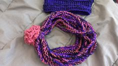 Crochet hat and rope scarf
