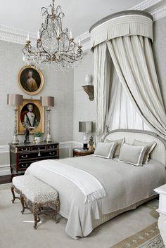 Pale gray bedroom