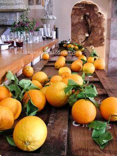 Mallorca, Orange, Restaurant Goli Santanyi, www.lieblingsidee.blogspot.com Barbecue-Abend auf der Dachterrasse mit Blick über die Dächer...