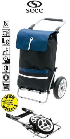Secc Maynila Heavy Duty 2 Wheel Shopping Trolley com alça ajustável e Grande Macio Grande Wheels preto / azul Grande, Baby Strollers, Cart, Challenges, Sea, Shopping, Black, Products, Blue