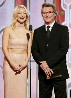 Kate Hudson and her step-father Kurt Russell