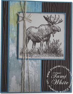 Stampin Up Walk in the Wild Moose stamp set card