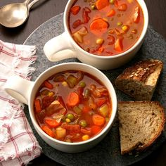 Hearty Vegetable Soup Recipe -A friend gave me the idea to use V8 juice in soup recipes because it provides more flavor. This soup is great to make on a crisp autumn afternoon.