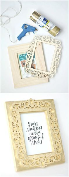 How to make beautiful picture frames with Mod Podge and scrapbook ...