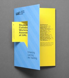 University of the Arts London print with die cut detail designed by Alphabetical. #Print #University