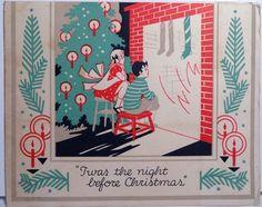 Vintage Christmas Card 1186 | eBay