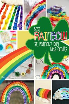 Look here for the best Rainbow St. Patrick's Day Kids Crafts! {OneCreativeMommy.com} 17+ fun and engaging crafts for kids!: