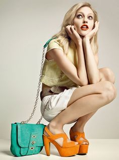 #orange #fashion #model