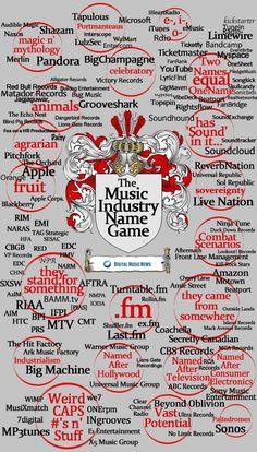The Music Industry Name Game via Digital Music News