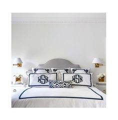 Madeline's Blue and White Luce Ikat Pillow styled by Grant K. Gibson Interior Design.
