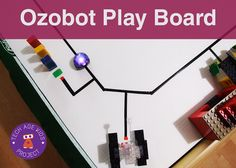 OzoBot Board with Stickers Grid Tape and Corrugated Plastic blockly coding ozobot robots