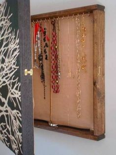 I Think That I Would Line The Cork With Pretty Fabric Too:) Hidden Jewelry  Storage Organizer