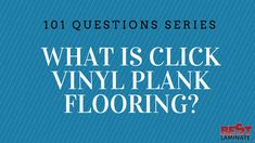 Click vinyl plank flooring is an engineered vinyl floor. This means that click vinyl plank flooring is a floating floor that will work in all rooms! Click Vinyl Plank Flooring, Flooring 101, Best Laminate, Floating Floor, Sweet Home, House Beautiful