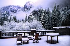 Snowy Yosemite California - USA