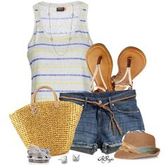 """""""Casual Summer Style"""" by kginger on Polyvore"""