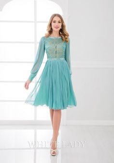 A-Line/Princess Jewel Knee-length Tulle Mother of the Bride Dress Elegant Dresses, Beautiful Dresses, Formal Dresses, Beaded Lace, Mother Of The Bride, Lace Dress, Tulle, Chiffon, Gowns