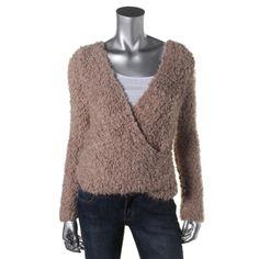 Free People Womens Knit Long Sleeves Wrap Sweater