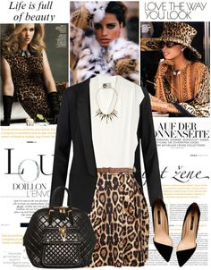 """Stand Out Leopard"" by cuteym ❤ liked on Polyvore"